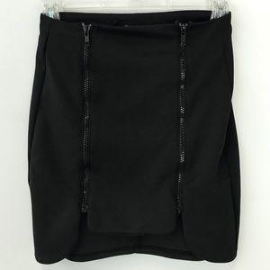 Nasty Gal Black Zip Mini Skirt Size XS